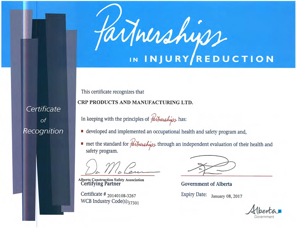 CRP Safety Certificate COR