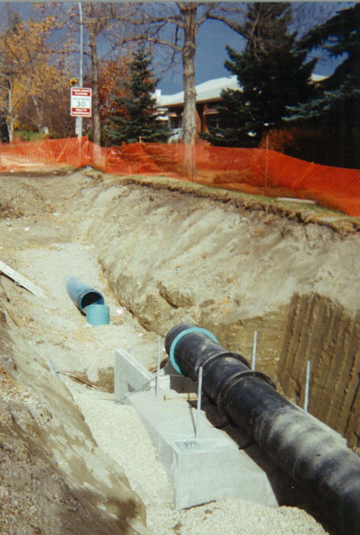 Watermain project for the City of Calgary